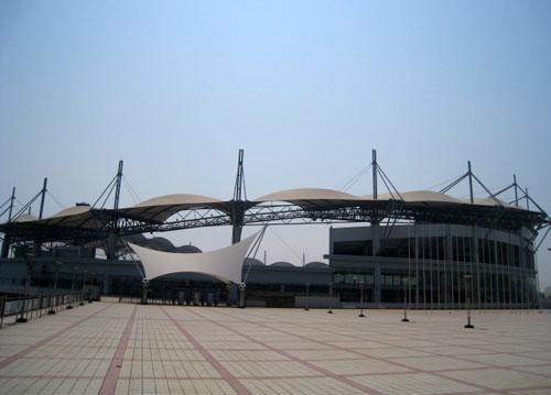 组图:透视秦皇岛奥体中心足球场整体结构