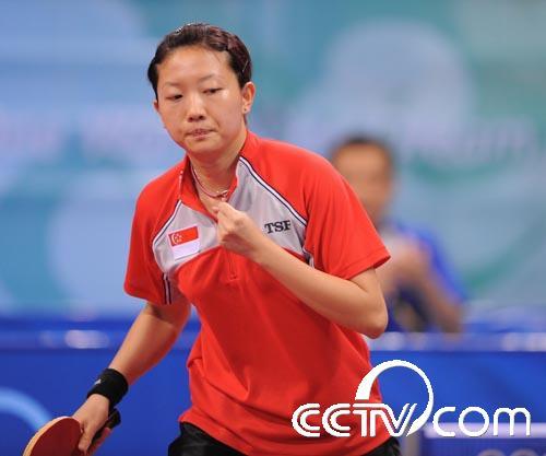 乒乓球女单:新加坡李佳薇晋级(标志)中国足球队大全组图图片