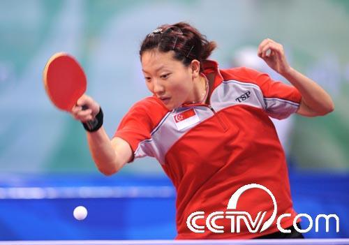 乒乓球女单:新加坡李佳薇晋级(手球)中国视频组图女子图片