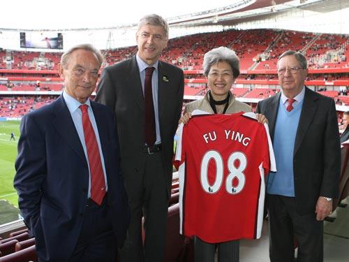 并希望中国的球迷们能够看到精彩的阿森纳足球