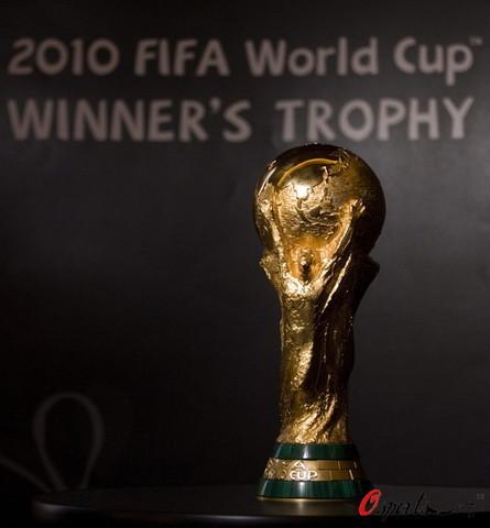 组图:2010南非世界杯冠军奖杯正式亮相_CCT