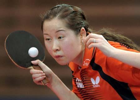 [组图]2009欧洲乒乓球12强赛波尔李倩屠龙夺冠斗鸡图片