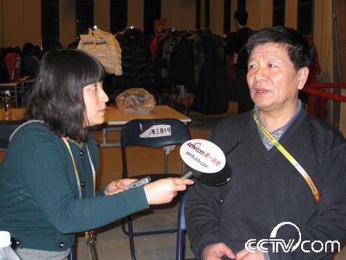 中央电视台电视转播工程师陈明接受央视网记者采访