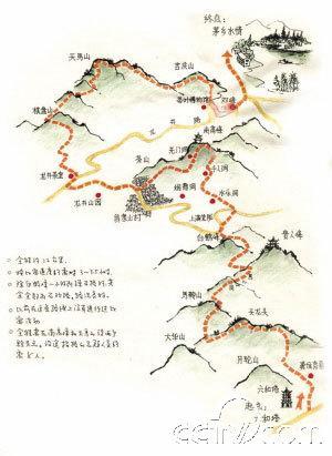 西湖风景路线图