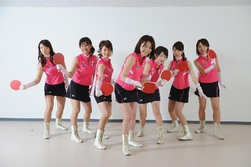 [组图]日本七美女主播助威世乒赛搞笑不可挡_靓丽裙底女生武器图的藏图片
