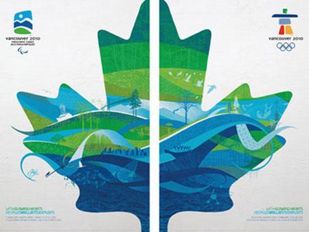 加拿大海报手绘