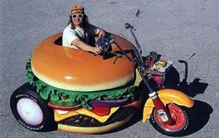 汉堡包自行车,可爱的造型,设计者不详.