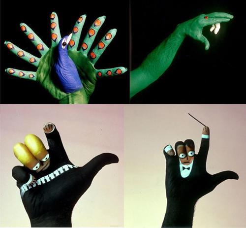 手指玩出各种动物,表情形态栩栩如生