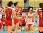 [高清组图]女排亚锦赛:中国横扫伊朗三连胜