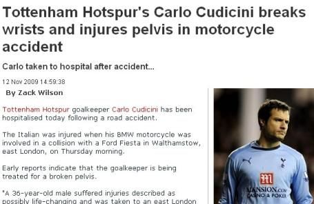 bmw摩托赛车与一辆福特嘉年华相撞.据前往现场的交警描述,高清图片