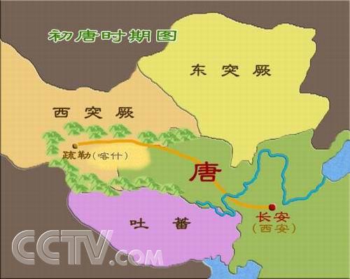 唐朝时期最大地图
