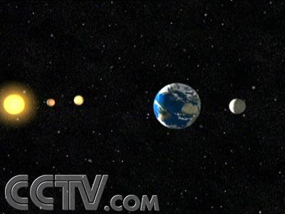 月球和太阳排成一条直线