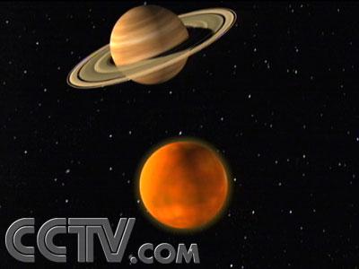 土星的光环消失一次