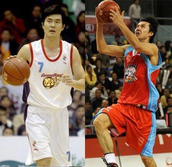 2008/09赛季决战cba之后卫:王仕鹏pk木拉提图片