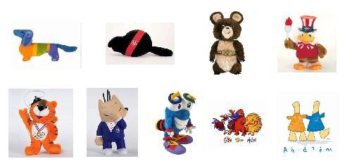 奥运会吉祥物大多以举办国有特色的动物形象为创作原