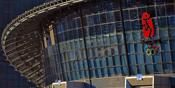 奥运羽球馆坐落于北京工业大学