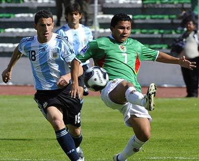 世预赛-玻利维亚6-1阿根廷 马拉多纳上任首败