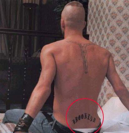 详解贝克汉姆纹身 天下足球图片